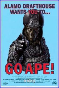Alamo Drafthouse Planet of the Apes Mondo Jason Edmiston Limited Ed. Lithograph
