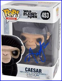 Andy Serkis Autographed Caesar Planet of the Apes Funko Pop BAS COA