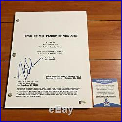 Andy Serkis Signed Dawn Of The Planet Of The Apes Movie Script Beckett Bas Coa