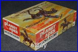 Aurora Model Era 1973 Addar Planet of the Apes Stallion & Soldier Factory Sealed
