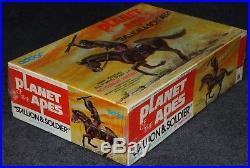 Aurora Model Era 1973 Addar Planet of the Apes Stallion & Soldier Factory Sealed