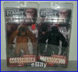 Authentic Neca Dawn Of The Planet Of The Apes 4 Figures Lot New