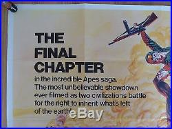 BATTLE FOR THE PLANET OF THE APES (1973)-original UK quad film/movie poster, rare