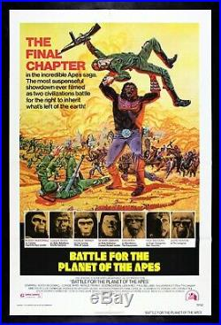 BATTLE FOR THE PLANET OF THE APES CineMasterpieces GORILLA MOVIE POSTER 1973