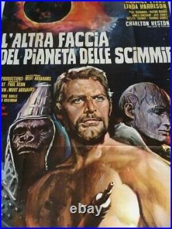 BENEATH THE PLANET OF THE APES (1970) Charlton Heston Italian 55x78