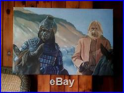 BENEATH THE PLANET OF THE APES 24x36 ORIGINAL OIL PAINTING