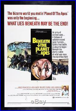 BENEATH THE PLANET OF THE APES CineMasterpieces SIGNED AUTO MOVIE POSTER 1970