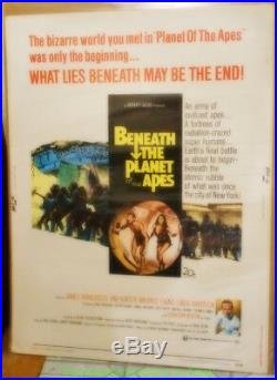BENEATH THE PLANET OF THE APES MOVIE POSTER V. Rare 30x40 Inch Fine Condition