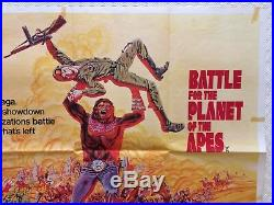 Battle For The Planet Of The Apes 1973 Original British Movie Quad Poster