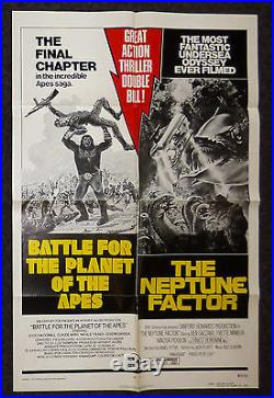 Battle Of The Planet For The Apes The Neptune Factor R1973 Orig 1 Sheet Poster