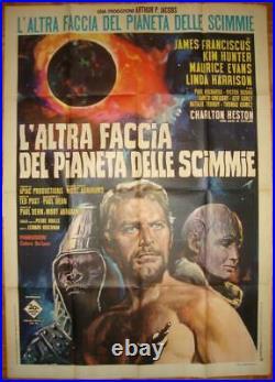 Beneath The Planet Of The Apes Orig Vintage Italian 1 Panel Pota Striking Image