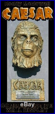CAESAR statue face PLANET OF THE APES prop commemorative Wall display and PLAQUE
