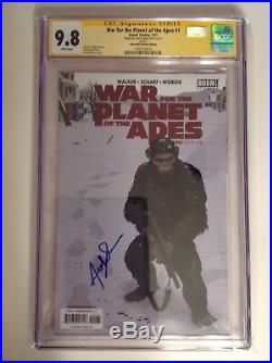 CGC 9.8 SS War for the Planet of the Apes #1 Variant signed by Andy Serkis