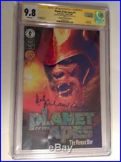 CGC SS 9.8 Planet of the Apes #1 DF variant signed Helena Bonham Carter CA card