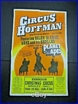 ^ CIRCUS HOFFMAN Planet of the Apes circus Poster-Wildest Show on Earth 1974
