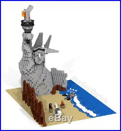 CUSTOM LEGO Planet of the Apes. Scene from the famous science fiction movie