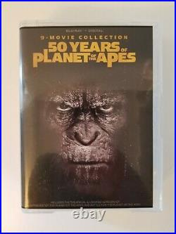 Caesar The Warrior Collection Bust + 50 Years of Planet Apes 9-Movie Blu-ray 4K