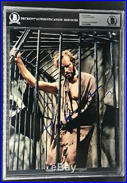 Charlton Heston Planet Of The Apes George Taylor Signed 8x10 Photo Beckett Bas