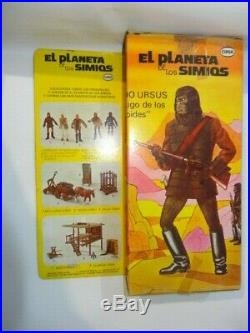 Cipsa Planet Of The Apes Ursus In Original Box Htf Mexican Version Of Mego