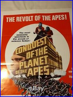 Conquest Of The Planet Of The Apes 1972 movie poster original One Sheet 27 X 41