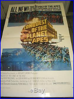 Conquest Of The Planet Of The Apes / Original U. S. One-sheet Movie Poster