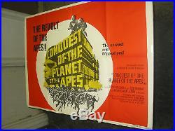 Conquest Of The Planet Of The Apes / Rare Orig. British Quad Movie Poster