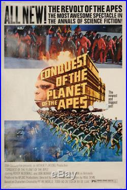 Conquest of the Planet of the Apes 1972 40x60 Orig Movie Poster FFF-50322 Rolled