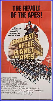 Conquest of the Planet of the Apes 1972 U. S. Three Sheet Poster