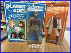 Cornelius & Dr. Zaius Mego Vintage Planet of the Apes Carded Free Shipping