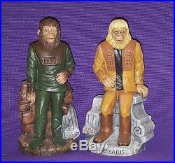 Customized Vintage 70's Planet of the Apes Play Pal bank set Dr. ZAIUS and GALEN