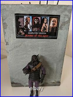 Diorama Custom planet of the apes Display No figures. Detolf cabinet backdrop