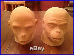 Don Post Planet Of The Apes Foam-filled Masters Cornelius And Dr. Zaius 1983
