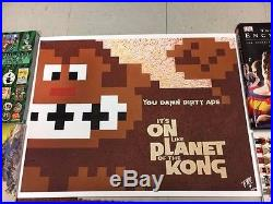 Donkey Kong Off Mego Planet of the Apes Arcade Pinball poster 50/200 King 24x18