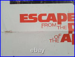 ESCAPE FROM THE PLANET OF THE APES 1971 ORIGINAL MOVIE POSTER 27x41 FOLDED