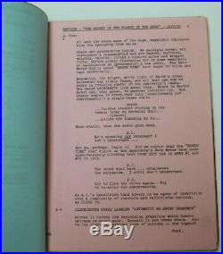 ESCAPE FROM THE PLANET OF THE APES / Paul Dehn, 1970 Movie Script Screenplay