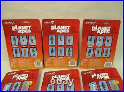 Exclusive Super 7 Reaction Planet Of The Apes Lot Of 9 Action Figures Moc New