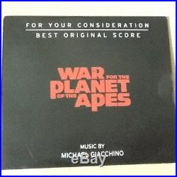 FYC WAR FOR THE PLANET OF THE APES Best Original Score Michael Giacchino 2-Discs
