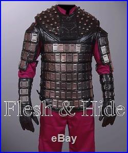 Faux Leather Planet of the Apes General Ursus Vest, Uniform, Wrist Cuffs