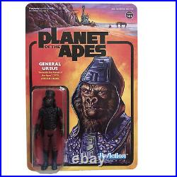 GENERAL URSUS 1970 Planet of the Apes Figure Funko Reaction Super 7 Toy NEW