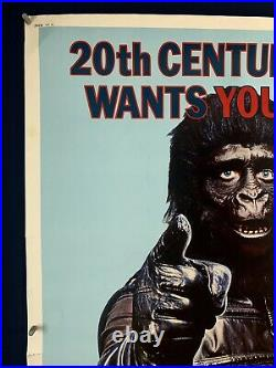 GO APES 5 BILL PLANET OF THE APES 40x60 Movie Poster (Fine) Sci-Fi 1974