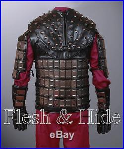 Genuine Leather Planet of the Apes General Ursus Vest, Uniform, Wrist Cuffs