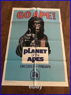 Go Ape. Original 1974 1 sheet CBS. TV Poster Planet Of The Apes