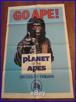 Go Ape Original 1974 1sheet CBS TV Poster Planet Of The Apes