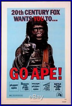 Go Ape Planet Of The Apes Festival Poster 1974 1-sheet On Linen