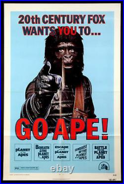 Go Ape Planet Of The Apes Sci-fi Festival Poster 1974 1-sheet