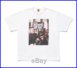 HUMAN MADE x APE PLANET OF THE APES Men's TEE White / Black From Japan New