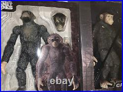 Hiya Toys Rise Of The Planet Of The Apes Caesar And Koba 6 Scale Action Figures