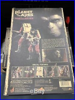 Hot Toys MMS 88 Planet of the Apes Gorilla Soldier 12 inch Action Figure In USA