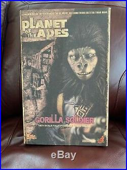 Hot Toys MMS 88 Planet of the Apes Gorilla Soldier 12 inch Action Figure NEW