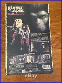 Hot Toys MMS 88 Planet of the Apes Gorilla Soldier 12 inch Action Figure Used